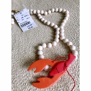 J. Crew lobster necklace, NWT!